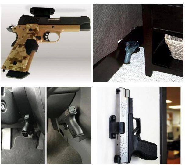 Magnetic Gun Mount Magnet & Holster for Vehicle and Home