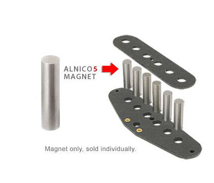 ALNICO 5 Rod Cylinder Magnets Vintage Top Style