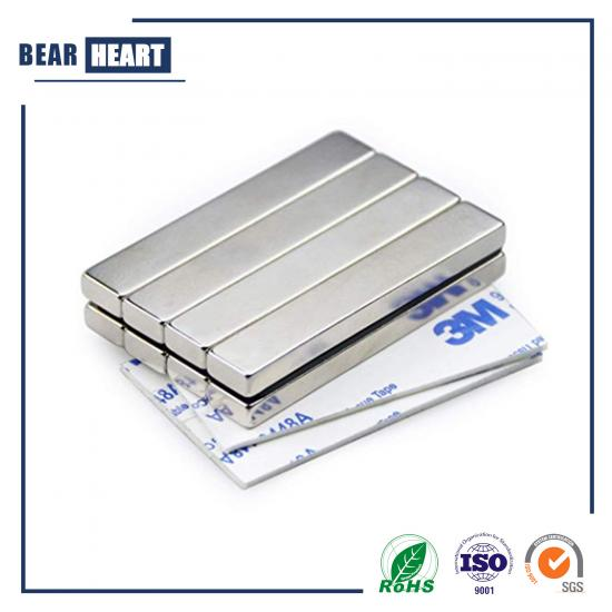 Strong Neodymium bar Magnets with Double-Sided Adhesive