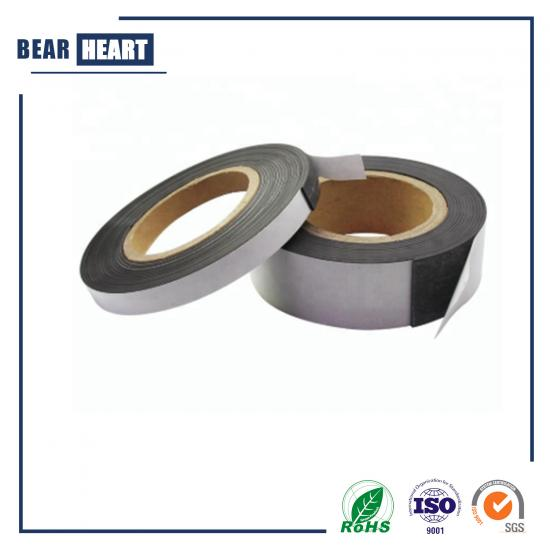 Self adhesive isotropic rubber magnet magnetic strips