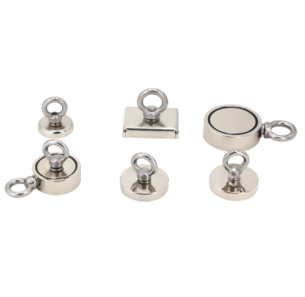 N52 Round Neodymium Fishing Magnet with Eyebolt