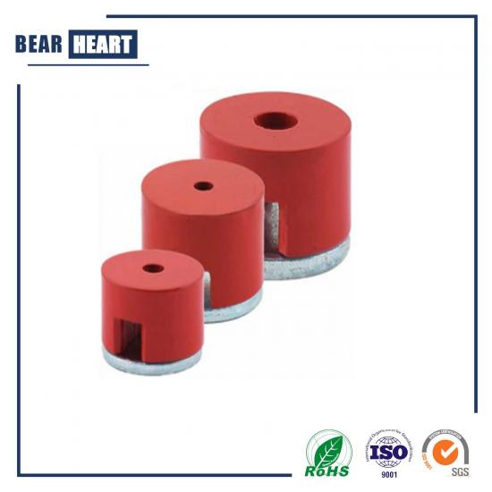 Red powerful alnico magnet button