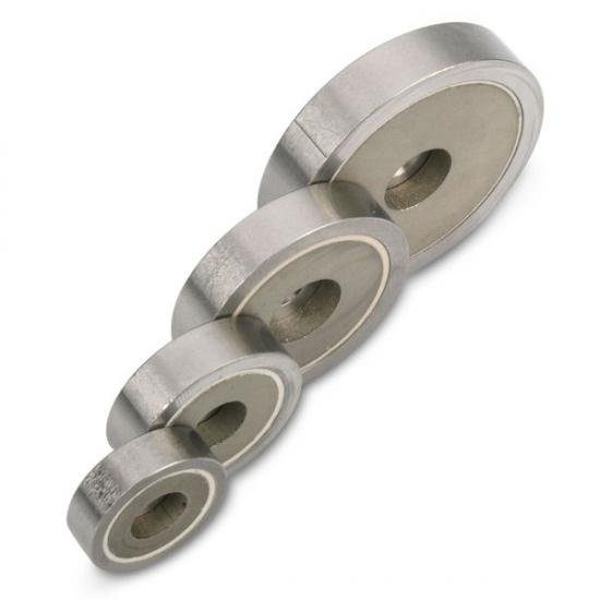 smco round base countersunk pot magnet